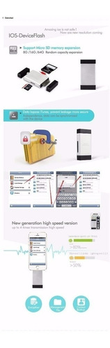 memoria sd flash iphone ipod touch ipad usb 4g hd mp3 gb 3g