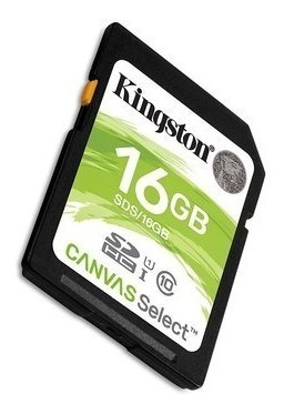 memoria sd hc 16gb kingston clase 10 full hd camara digital