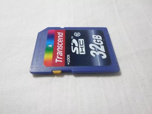 memoria sd transcend sdhc 32 gb. clase 10.