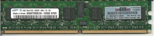 memoria servidor 1gb ddr2 ecc 1rx4 5300p hp dell