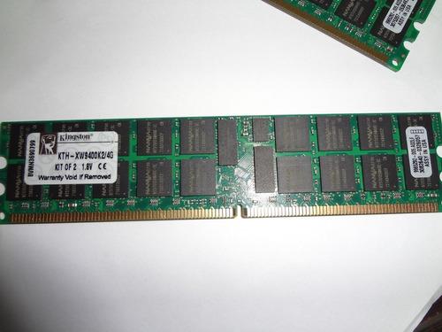 memoria servidor 4gb 2x2 pc2-5300r kingston  kth-xw9400k2/4g