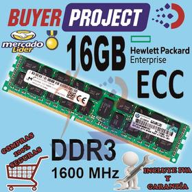 Memoria Servidor Hp Proliant 16gb 2rx4 Ddr3 Pc3-12800 1600 R