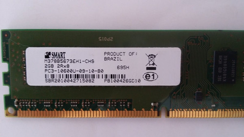 memória smart ddr3 2gb 1333mhz desktop pc - 2rx8 / 1rx8