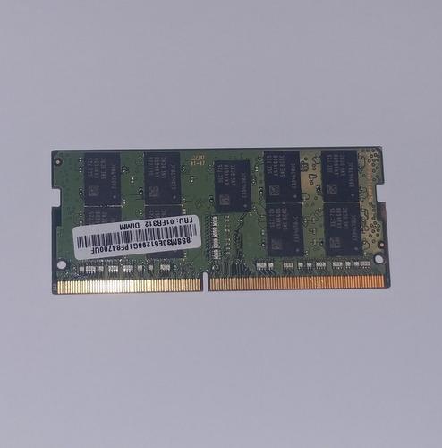 memoria sodimm 8gb ddr4-2400 ecc, lenovo 01fr312