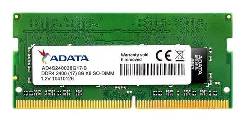 memoria sodimm adata 8gb ddr4 2400mhz para notebook