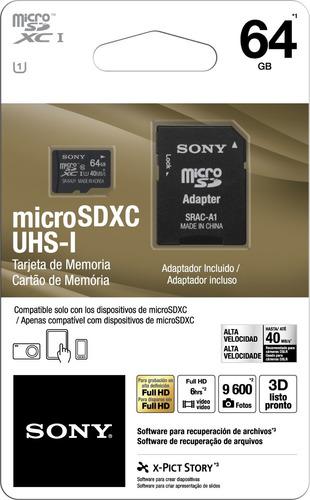 memoria sony micro 64 g c-10 sr-64uya