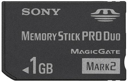 memoria stick pro duo 1 gb sony con adaptador igt