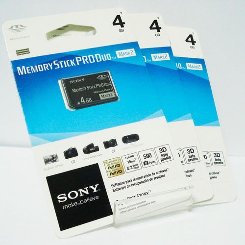 memoria stick pro duo sony 4gb mark2