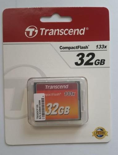memoria transcend compact flash 32 gb ts32gcf133 133x