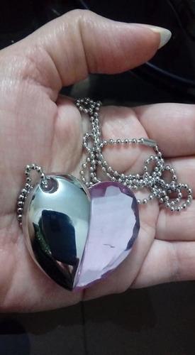 memoria usb 16 gb con diseño dije corazon collar