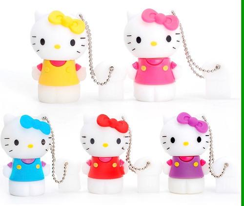 memoria usb 16 gb figuras hello kitty colores