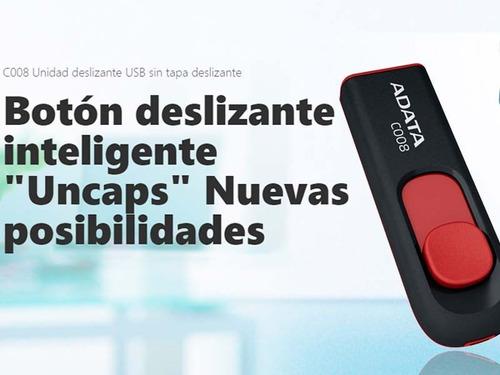 memoria usb 16gb adata flash drive c008 varios colores