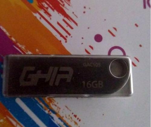 memoría usb 16gb ghia 2.0 metal!!