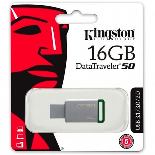 memoria usb 16gb metalica kingston dt50 nueva dt50/16gb