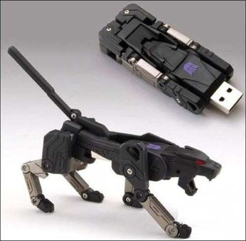 memoria usb 16gb transformer dog gris