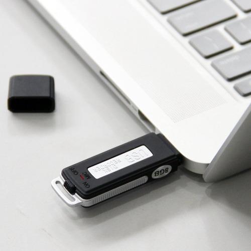 memoria usb 2 en 1 espia, grabadora de voz 8gb, envio gratis
