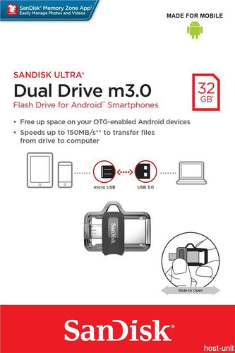 memoria usb 3.0 sandisk ultra duo otg 32 gb android
