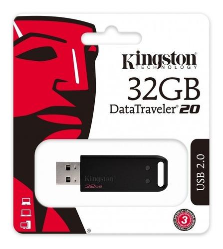 memoria usb 32gb 2.0 kingston negro data traveler dt20