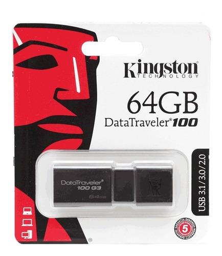 memoria usb 64gb kingston 3.0 original garantia 1 año promo