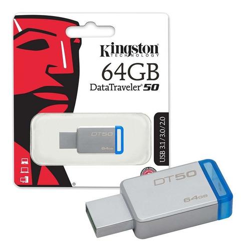memoria usb 64gb kingston dt50 veloz 3.0 x mayor y menor