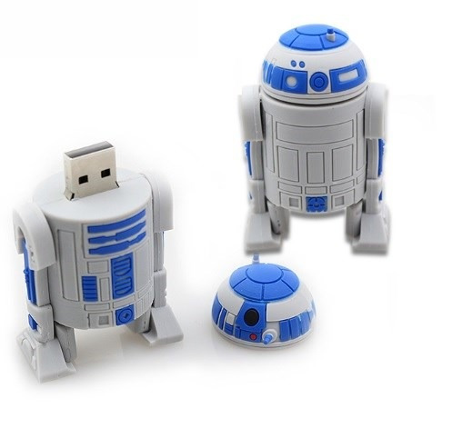 memoria usb 8 gb star wars - diseño r2d2 darth vader yoda