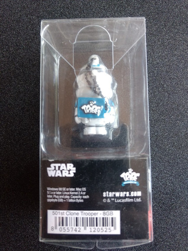 memoria usb 8 gb star wars tribe clone trooper