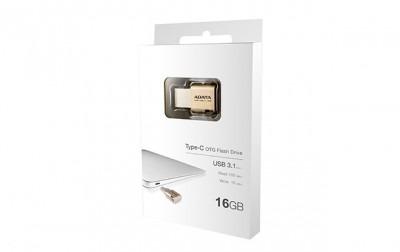 memoria usb adata - 16 gb, usb 3.1/usb 3.0, oro