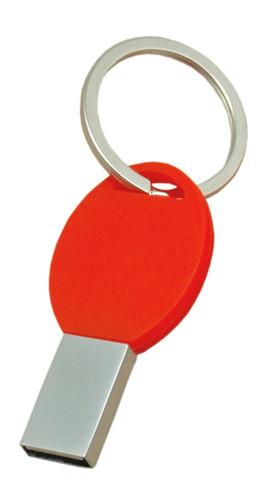 memoria usb digit en silicona con argolla tipo -rojo ovalada