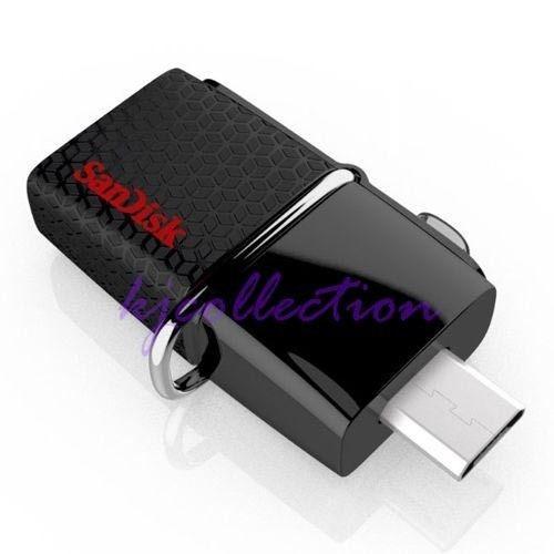 memoria usb dual otg sandisk  64 gb 3.0 a150mb velocidad