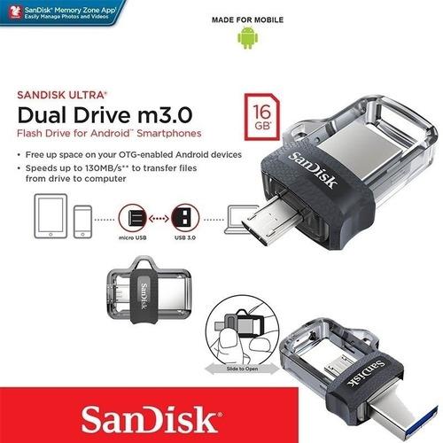 memoria usb dual otg sandisk ultra m 3.0 16gb sddd3