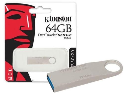 memoria usb flash kingston datatraveler se9 g2 64gb usb 3.0