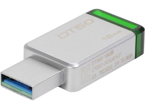 memoria usb kingston datatraveler50 16gb verde