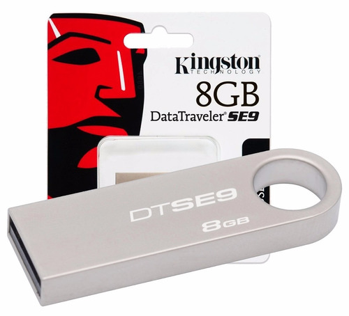 memoria usb kingston dtse9 8gb usb  plata
