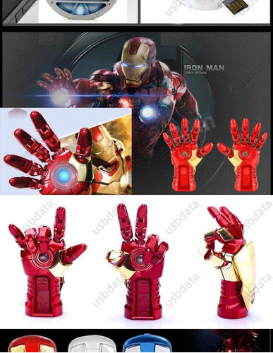 memoria usb mano de iron man  8gb