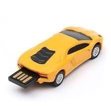 memoria usb puerto 3.0, capacidad 64 gb, auto lamborghini
