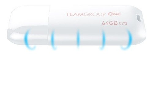 memoria usb team group 64 gb 2.0 tc17364gw01 blanca