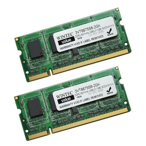 memoria wintec value 2gb(2x1gb) ddr2 667 sodimm