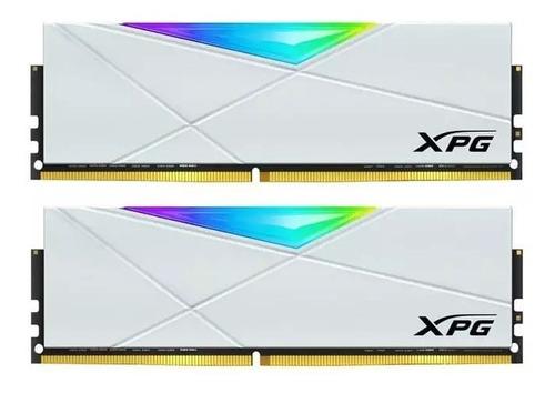 memória xpg spectrix d50 16gb (2x8gb) ddr4 3000mhz branca