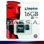 Memoria Micro Sd 16gb Kingston Clase 10 Tarjeta Memory Usb