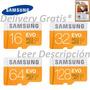 Memoria Samsung 16 32 64 128 Gb Micro Sd Evo Clase 10 Uhs-i