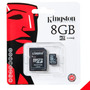 Memoria Micro Sd Hc 8gb Kingston Oridinal Sellada100% Nueva