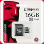 Memoria Micro Sd Hc 16 Gb Kingston Original Sellada Nueva