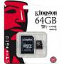 Tarjeta Memoria Micro Sd Hc Con Adaptador 64 Gigas
