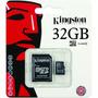 Memoria Micro Sdhc 32gb Kingston Clase 10 + Adaptador Sd