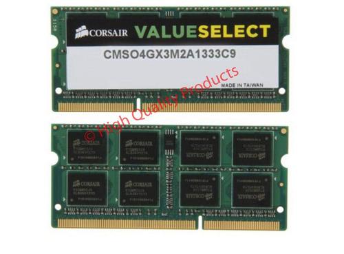 memorias corsair 4gb (2x2gb) ddr3 1333mhz 1.5v