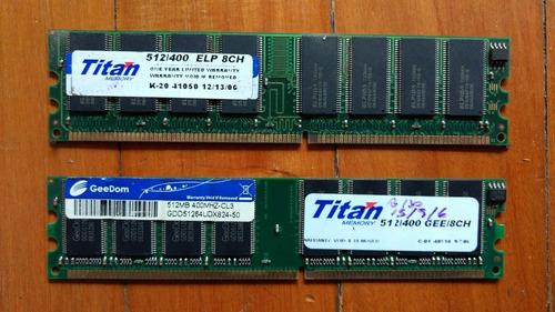 memorias ddr 512 400mhz 8ch