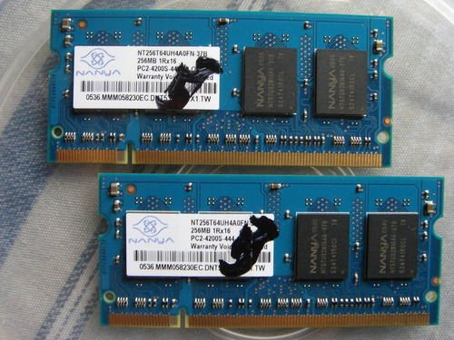 memorias ddr2-533mhz 512mb (son 2 x 256) para laptop az-pc