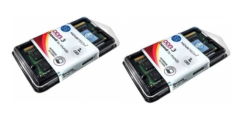 memorias ddr3 4gb 2x2gb 1333 1.5v novatech blister  envios