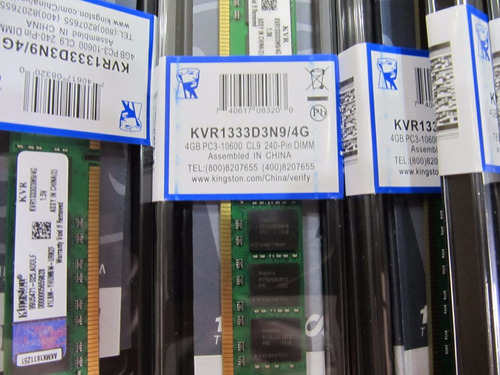 memorias ddr3 4gb pc3 kingston 1333-10600 nuevas en blister