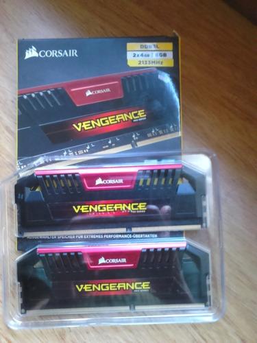 memorias ddr3 corsair kit 2x4gb 2133 mhz